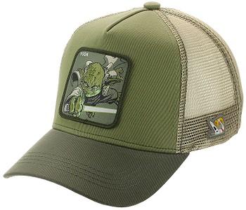 kšiltovka Capslab Star Wars Trucker - Yoda/Olive Green