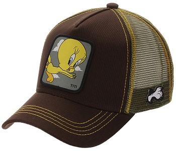 kšiltovka Capslab Looney Tunes Trucker - Tweety/Brown