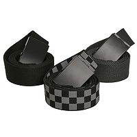 opasok Urban Classics Belts 3 Pack/TB2774 - Black/Charcoal/Chess