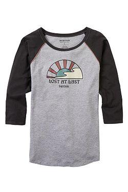 T-Shirt Burton Ashmore Raglan - Gray Heather/Phantom - women´s