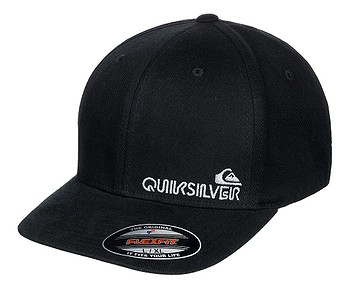 kšiltovka Quiksilver Sidestay Flexfit - KVD0/Black