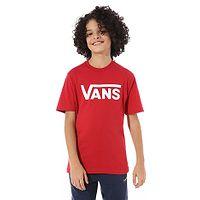 camiseta Vans Classic - Chili Pepper/White - boy´s