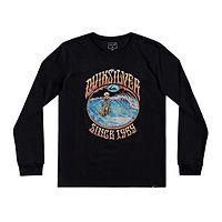 camiseta Quiksilver Lost Alibi LS - KVJ0/Black - boy´s