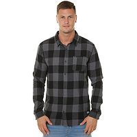 shirt Quiksilver Motherfly Flannel LS - KZM2/Irongate Motherfly - men´s