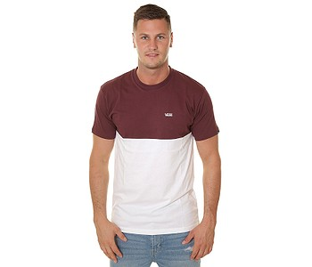 tričko Vans Colorblock - Port Royale/White