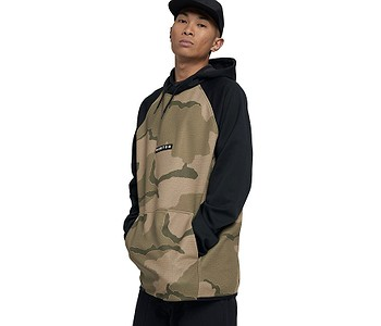 mikina Burton Crown Weatherproof Pullover - Barren Camo/True Black