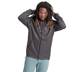 mikina Burton Crown Weatherproof Fleece Zip - True Black Heather