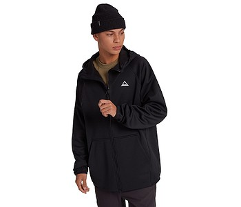 mikina Burton Crown Weatherproof Fleece Zip - True Black