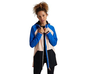 mikina Burton Crown Weatherproof Long Zip - Lapis Blue/Peach Melba/True Black