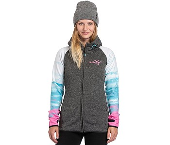 mikina Meatfly Gema 3 Zip - A/Ambient/White/Gray Heather