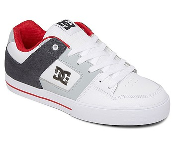 boty DC Pure - WYR/White/Gray/Red