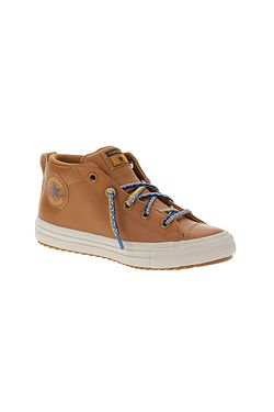 shoes Converse Chuck Taylor All Star Street Boot Mid - 668490/Warm Tan/Cape Blue - unisex junior