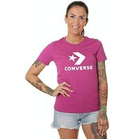 T-shirt Converse Scripted Star Chevron Crew/10018569 - A18/Cactus Flower
