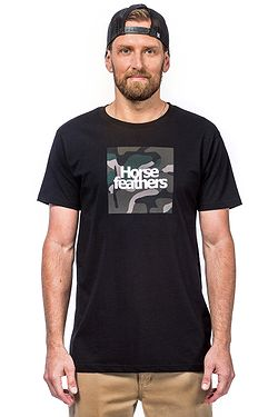 T-Shirt Horsefeathers Beck - Black - men´s