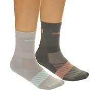 ponožky Salomon XA 2 Pack - Light Gray/Papaya Punch