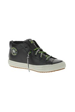 shoes Converse Chuck Taylor All Star Street Mid - 668489/Black/Bright Pear/Dolphin - unisex junior