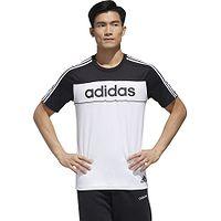 T-shirt adidas Performance Mens Essentials Tape - Black/White/Black - men´s