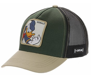 kšiltovka Capslab Disney Trucker - Donald/Kaki/Sand
