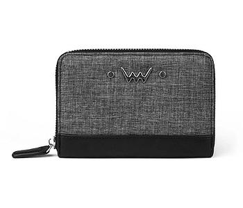 peněženka Vuch Jane - Gray Melange/Black