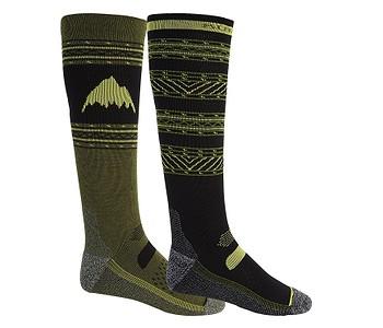 ponožky Burton Performance Lightweight 2 Pack - True Black/MartiniOlive