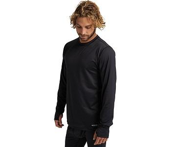 tričko Burton Midweight Crew LS - True Black