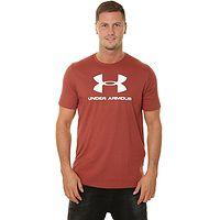 T-Shirt Under Armour Sportstyle Logo - 688/Cinna Red/White - men´s