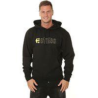 Sweatshirt Etnies E-Corp Pullover - Black/Yellow - men´s