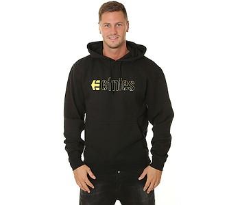 mikina Etnies E-Corp Pullover - Black/Yellow