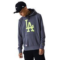 mikina New Era Seasonal Team Logo MLB Los Angeles Dodgers - Graphite/Lime Green