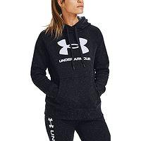 Sweatshirt Under Armour Rival Fleece Logo - 002/Black/White/White - women´s