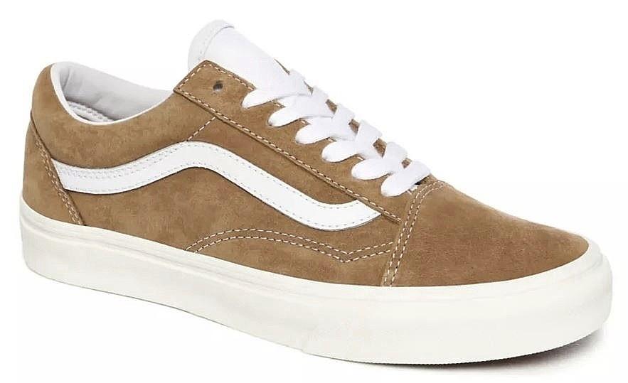 shoes Vans Old Skool - Pig Suede/Brown Sugar/Snow White ...