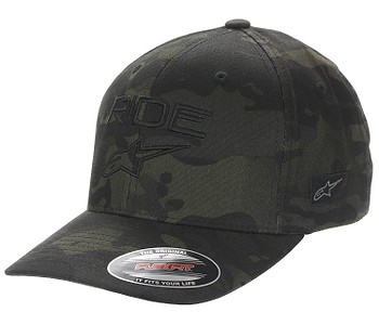 kšiltovka Alpinestars Ride Multicam Flexfit - Black/Black