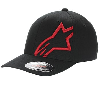 kšiltovka Alpinestars Corp Shift 2 Flexfit - Black/Red