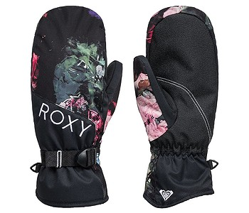 rukavice Roxy Jetty Mitt - KVJ6/True Black Blooming Party