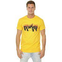 T-Shirt Thrasher Crows - Gold - men´s