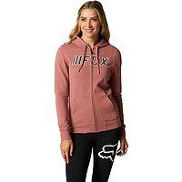 Sweatshirt Fox Break Check Zip - Dusty Rose - women´s