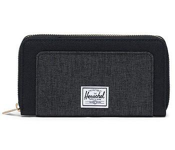 peněženka Herschel Thomas RFID - Black/Black Crosshatch