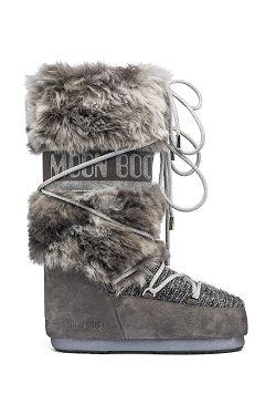 boty Tecnica Moon Boot Wool Fur - Gray