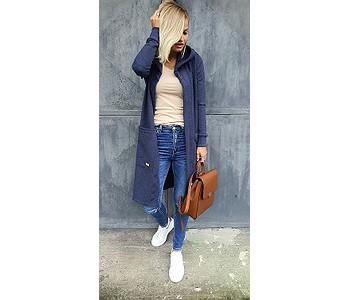 mikina M.ASCH-Be original Mega Hood Cardigan - Jeans
