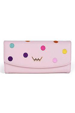 peněženka Vuch Borna - Pink/ Multicolor Dots