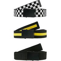 belt Urban Classics Belts 3 Pack/TB2774 - Black/White/Yellow