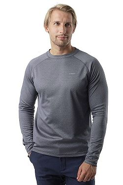 tričko Loap Pedro LS - T44XV/Steel Gray Melange