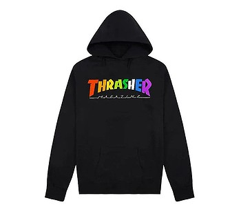 mikina Thrasher Rainbow Mag - Black