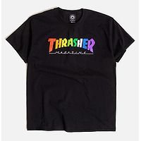 T-Shirt Thrasher Rainbow Mag - Black - men´s