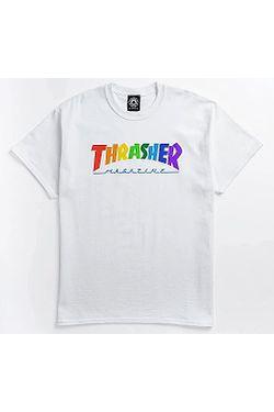 tričko Thrasher Rainbow Mag - White