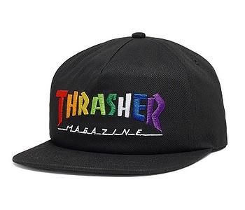 kšiltovka Thrasher Rainbow Mag Snapback - Black