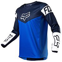 T-Shirt Fox 180 Revn Jersey LS - Blue - men´s