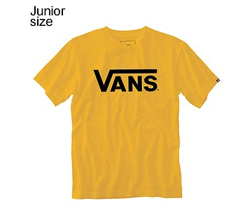 tričko Vans Classic - Saffron/Black