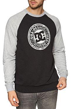 sweatshirt DC Circle Star Crew Raglan - XKKS/Black/Grey Heather - men´s