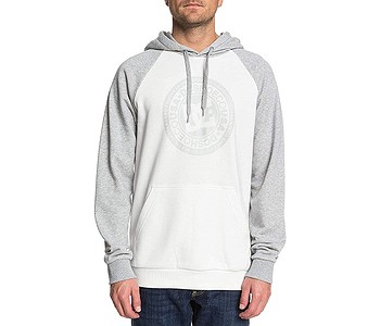 mikina DC Circle Star PH Raglan - XWWS/Snow White/Grey Heather